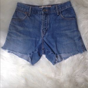 Levi High Rise 550 Relaxed Shorts Jeans Size:4.